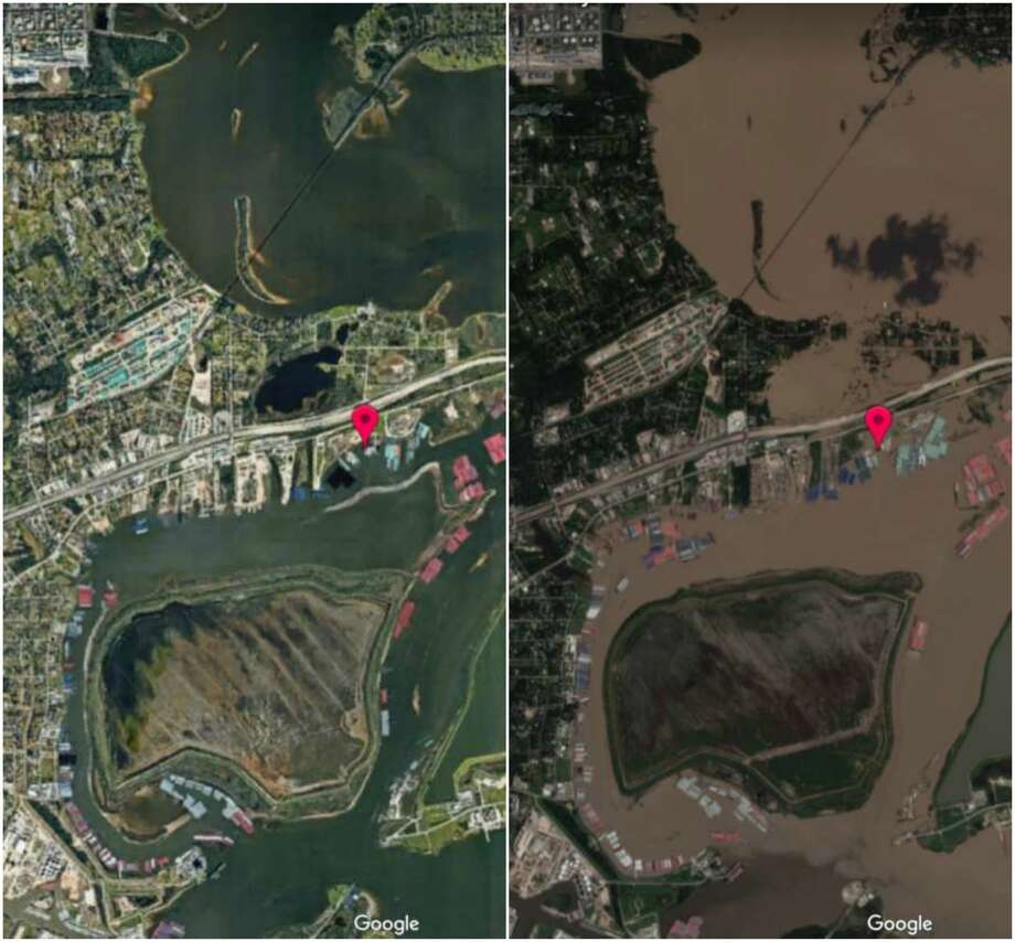 >> See the startling before and after satellite images of Harvey flooding in Houston...  Photo: BeFunky Collage