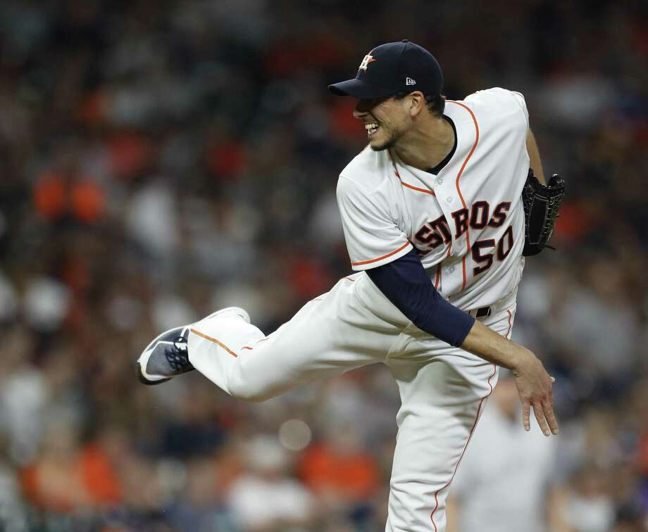 Astros starting pitcher Charlie Morton allowed just two hits and one run in 7 2/3 innings while striking out 10 batters to improve to 4-0. Photo: Karen Warren, Staff / Houston Chronicle / © 2018 Houston Chronicle