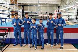 Baby Joey's Boxing Club members Mario Gomez, Emilio Garcia, Roy Garcia, Alex Rodriguez, Michael Coss and Angel Garcia.