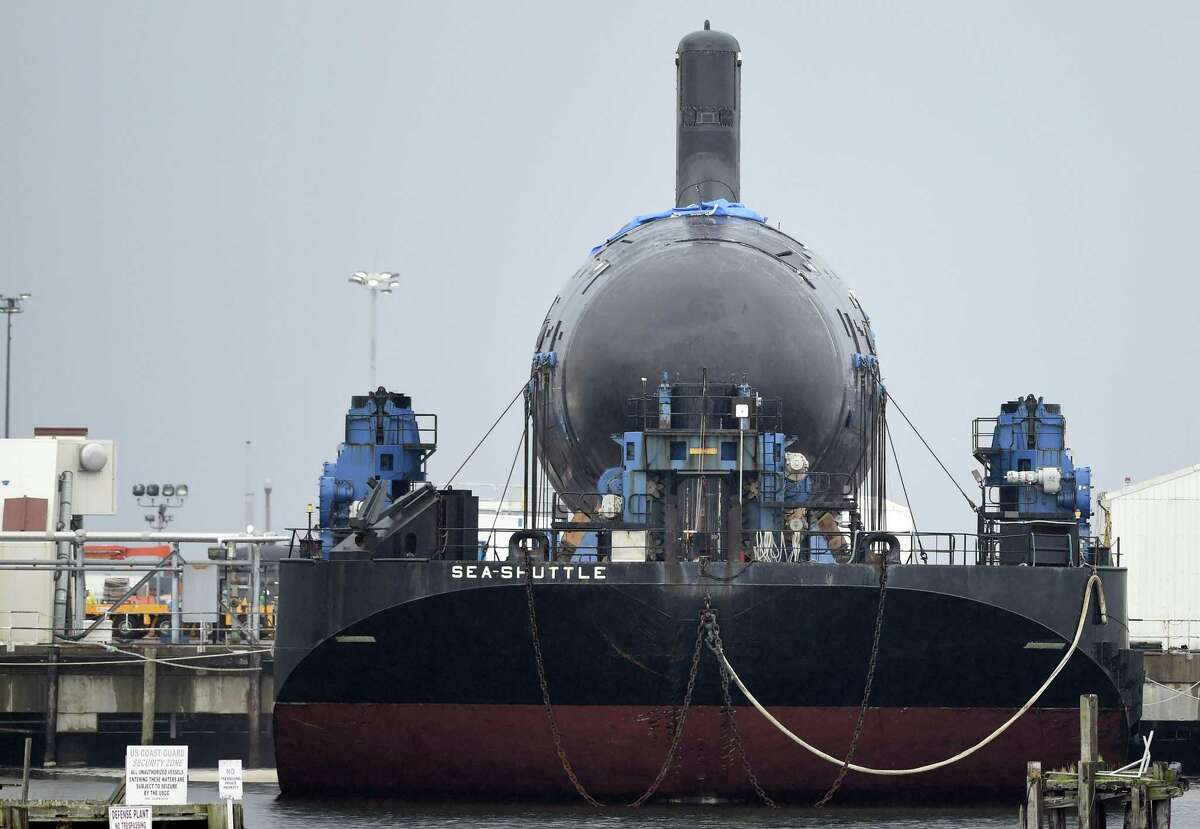 The Virginia class attack submarine Colorado in July 2015 at General Dynamics' Electric Boat plant in Groton, Conn.
