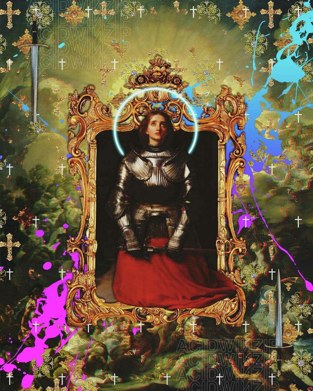 Artist AcidWinZip draws their Catholic upbringing