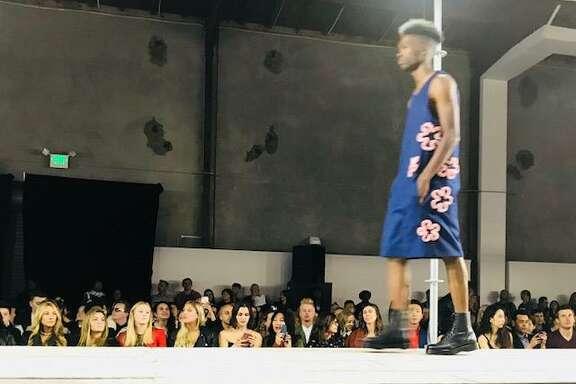 Luis Guillen-designed menswear at Academy of Art University graduate fashion show