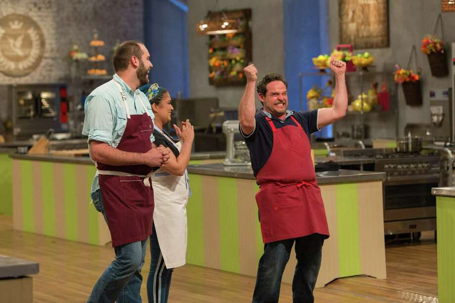 San Antonio pastry chef Nacho Aguirre couldn't contain his excitement when learning he had won the title of Food Network's Spring Baking Champion and $50,000. Photo: Courtesy Of Food Network / / © 2017, Television Food Network, G.P. All Rights Reserved.