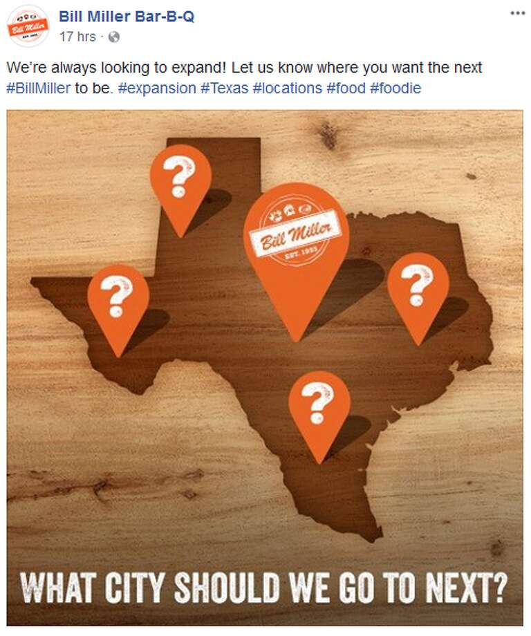"The San Antonio-based 'cue chain said in a Facebook post on Monday that the business is ""always looking to expand."""
