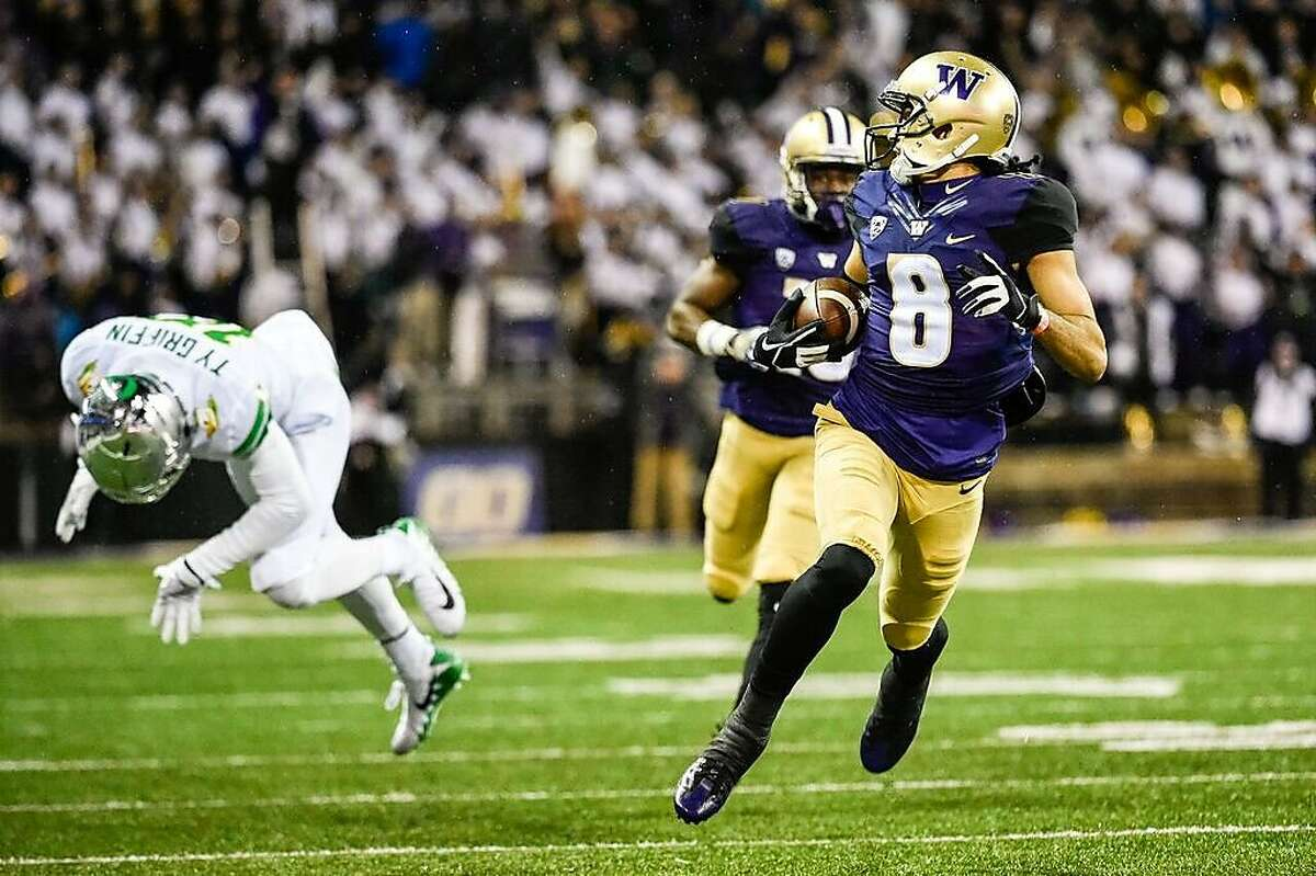 The 49ers drafted Washington wide receiver Dante Pettis with the 44th overall pick in the NFL draft., their first pick of the second round.