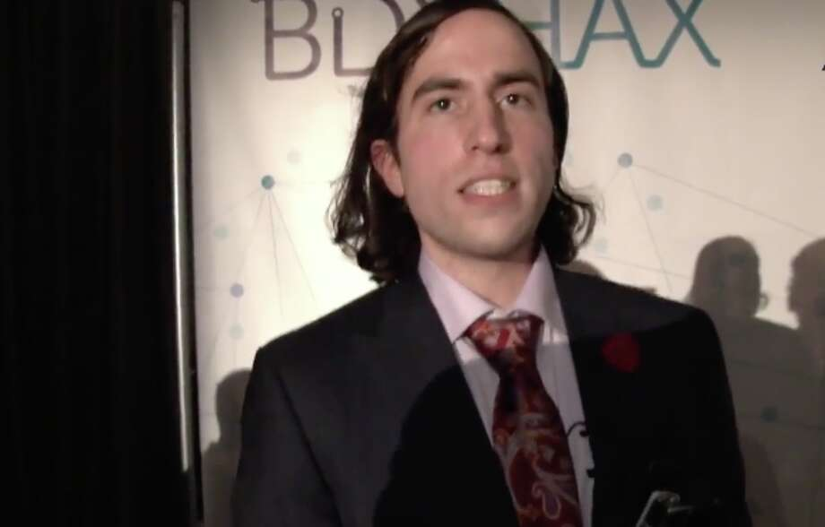 Aaron Traywick, the 28-year-old CEO of biohacking company Ascendance Biomedical, reportedly died in a flotation therapy tank in Washington D.C. on Sunday, April 28. Photo: Ruptly TV Screen Grab