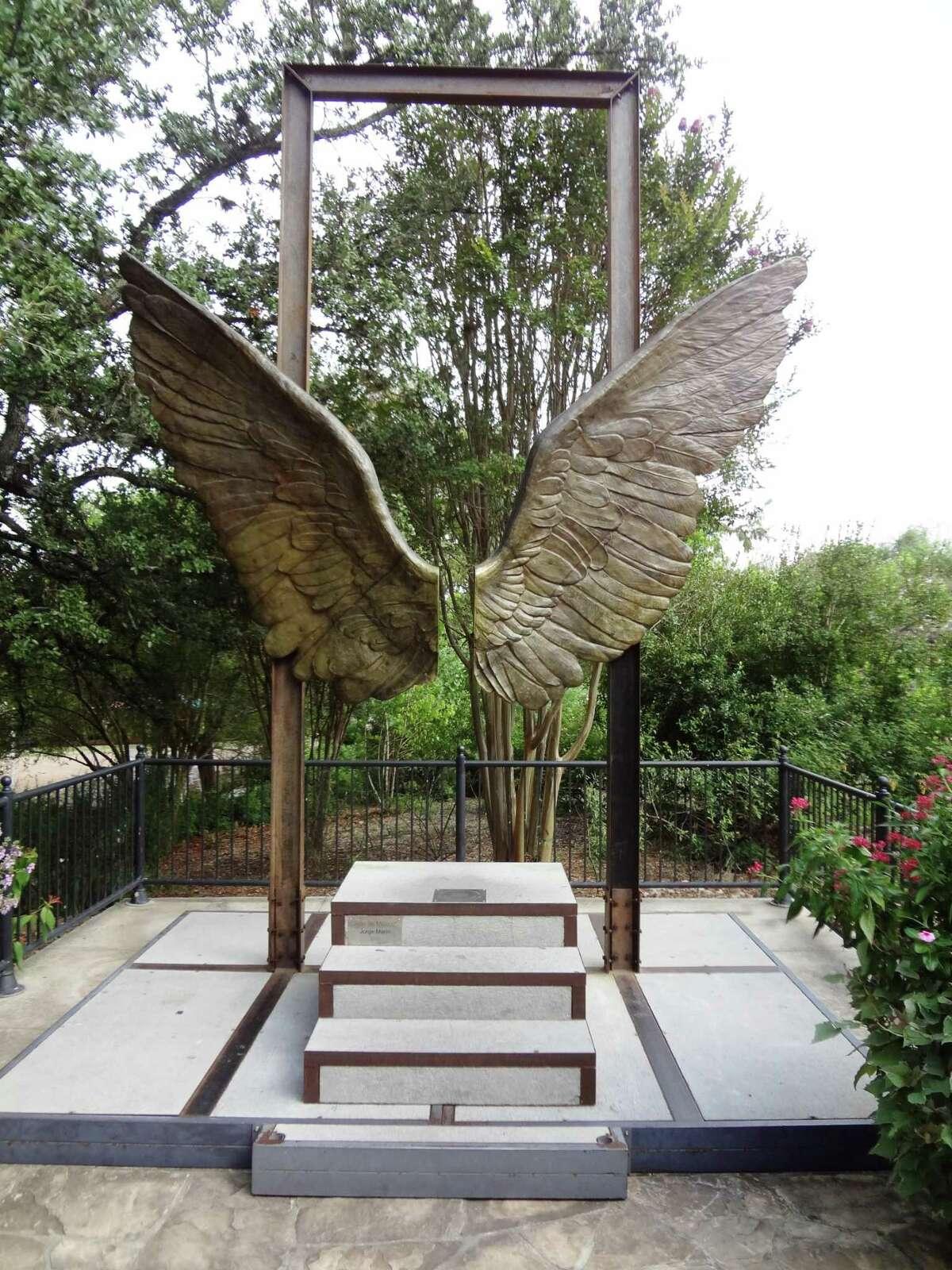 Mexican artist Jorge Marín's Alas de México when the piece was on exhibit three years ago at the San Antonio Botanical Garden.