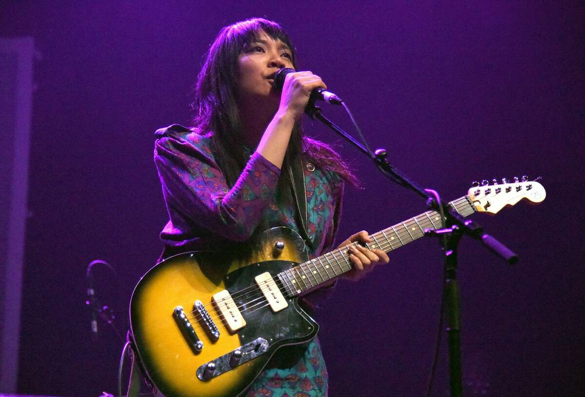 Thao Nguyen of Thao & the Get Down Stay Down performs during the 2018 Noise Pop Festival at Fox Theater on February 23, 2018 in Oakland, California.