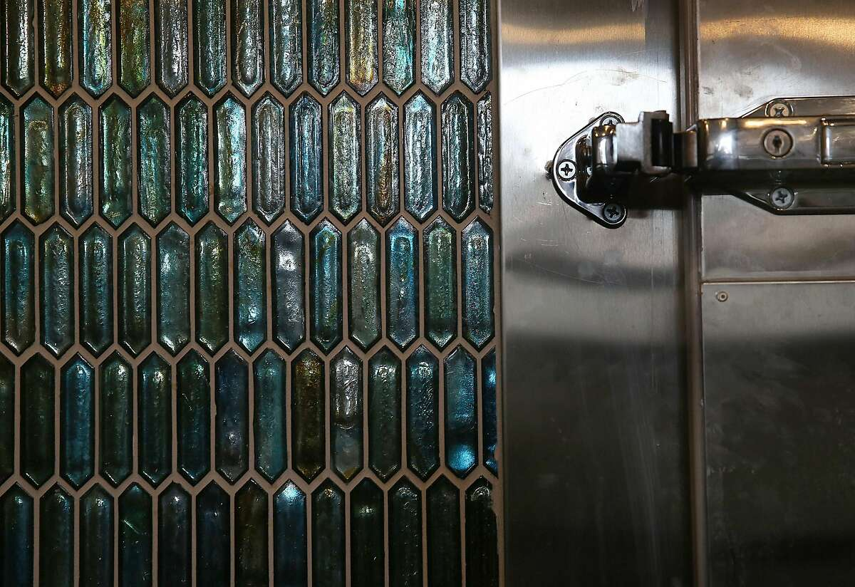 Close up view of tile from Tile Bar in the meat locker at chef Chris Bleidorn's new restaurant Birdsong which is under construction on Thursday, April 26, 2018, in San Francisco, Calif.