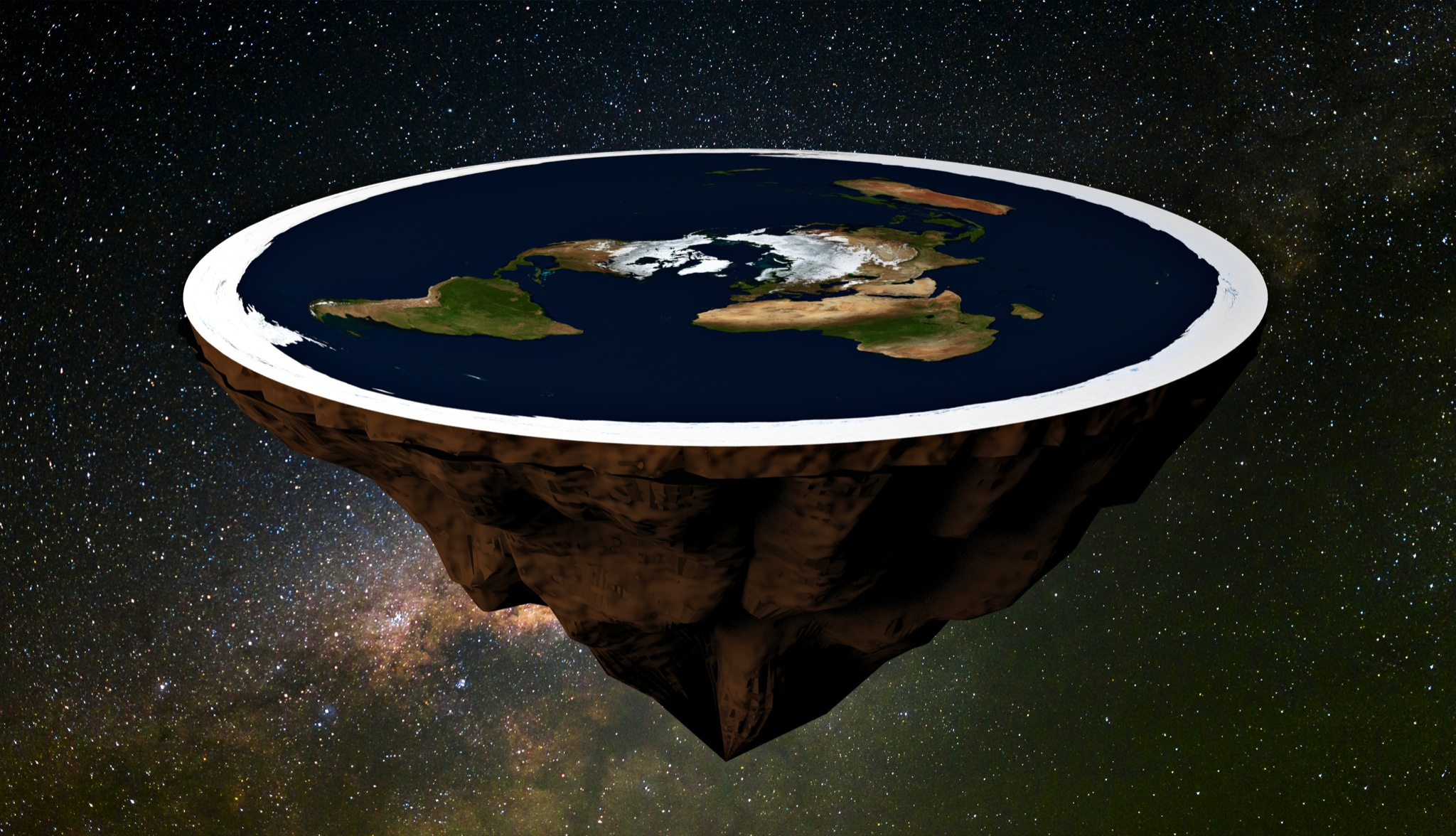 11d8a7b3db1 Conspiracy theorist  You can t fall off flat Earth edge due to  Pac-Man  effect  - SFGate