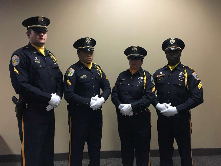 The Odessa Police Department Honor Guard attended the funeral today for Fallen Dallas Police Officer Rogelio Santander Jr., 27. Photo: Odessa Police Department