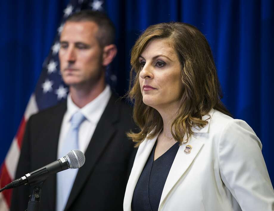 U.S. Attorney Erin Nealy Cox, shown at an earlier news conference, announced federal charges on Thursday, July 12, 2018, against 38 people linked to two separate drug trafficking networks in North Texas. Photo: Ashley Landis, TNS
