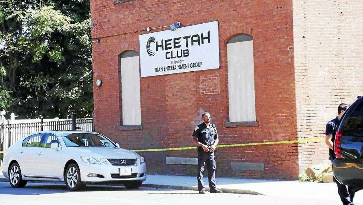 The Cheetah Club in New Haven following a fatal shooting in 2013.