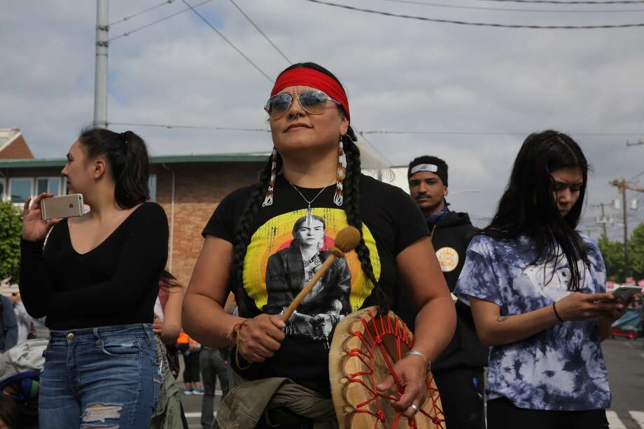 Scenes from the March for Immigrant and Workers' Rights on May 1, 2018. Photo: GENNA MARTIN