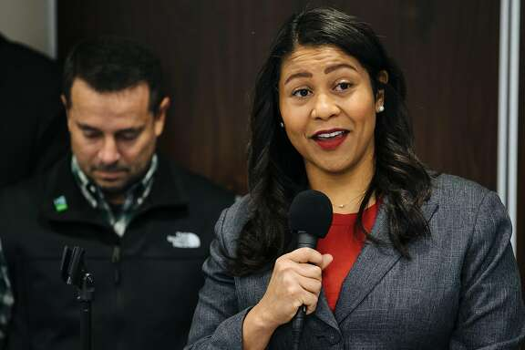President of the San Francisco Board of Supervisors, London Breed, holds a press conference for plans to help mitigate activities for the annual 4/20 celebration at the Golden Gate Park in San Francisco, Calif., Tuesday, April 17, 2018.