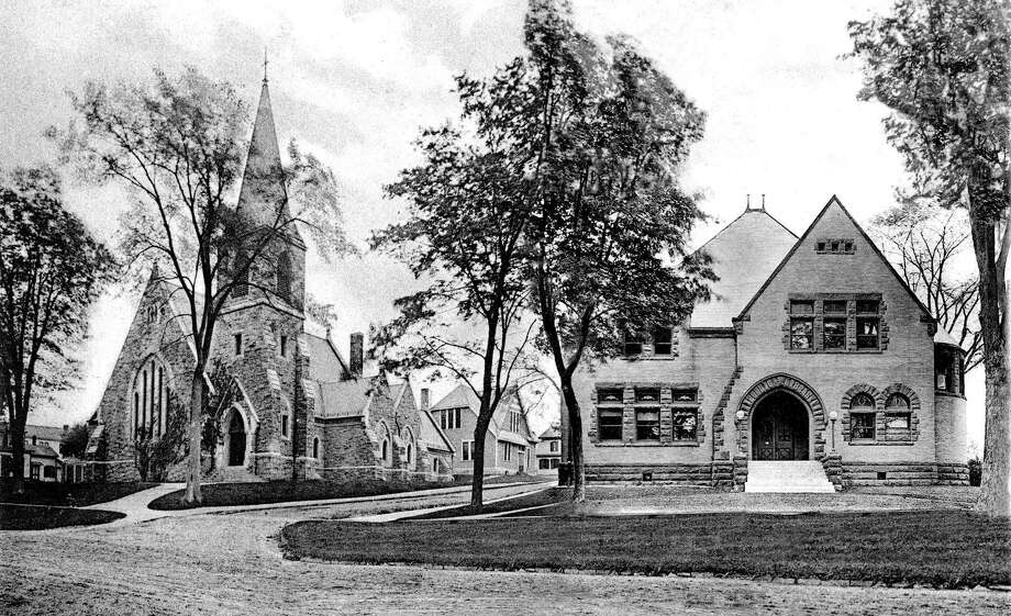 "Many of the buildings along Main Street in New Milford have remained the same over time. Here is a 1905 view of the St. John's Episcopal Church and the New Milford Public Library along the east side of the Village Green. If you have a ""Way Back When"" photograph you'd like to share, contact Deborah Rose at drose@newstimes.com or 860-355-7324. Photo: Courtesy Of The New Milford Historical Society / The News-Times Contributed"