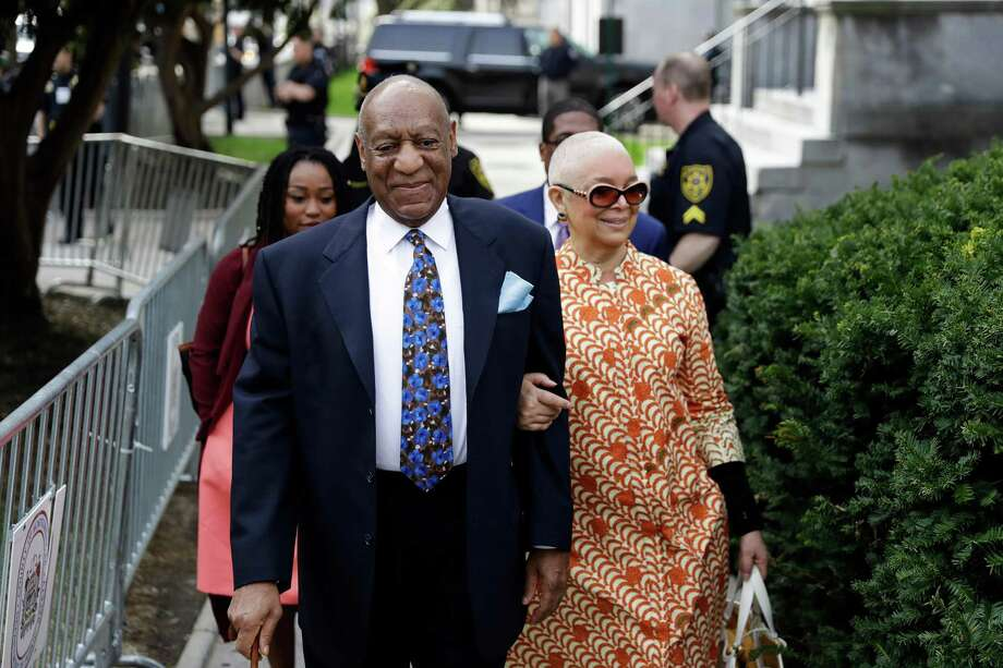 Bill Cosby, left, arrives with his wife, Camille, for his sexual assault trial at the Montgomery County Courthouse in Norristown, Pa. April 24. Photo: Matt Slocum / Associated Press / Copyright 2018 The Associated Press. All rights reserved