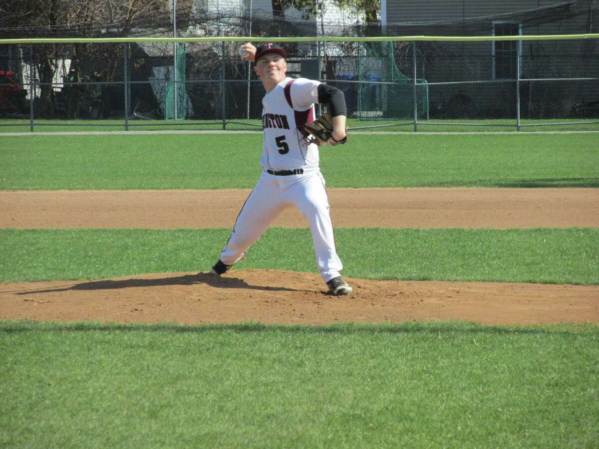 Starting pitcher Kyle Banche scored the final run for Torrington in a walk-off win over Watertown at Fuessenich Park Tuesday afternoon.