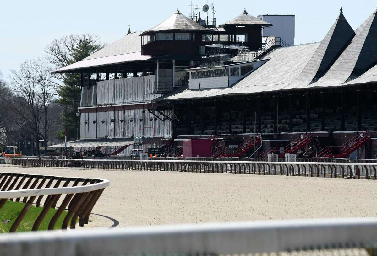 View of the Clubhouse at Saratoga Race Course on Tuesday, May 1, 2018, in Saratoga Springs, N.Y. (Will Waldron/Times Union)