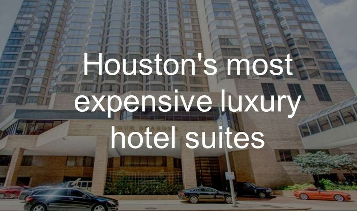 Scroll ahead to see some of Houston's most expensive luxury hotel suites.