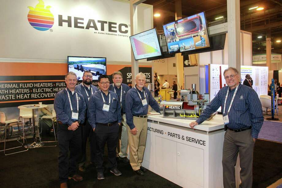 The HEATEC booth at OTC.   (For the Chronicle/Gary Fountain, May 1, 2018) Photo: Gary Fountain, For The Chronicle / For The Chronicle / Copyright 2018 Gary Fountain