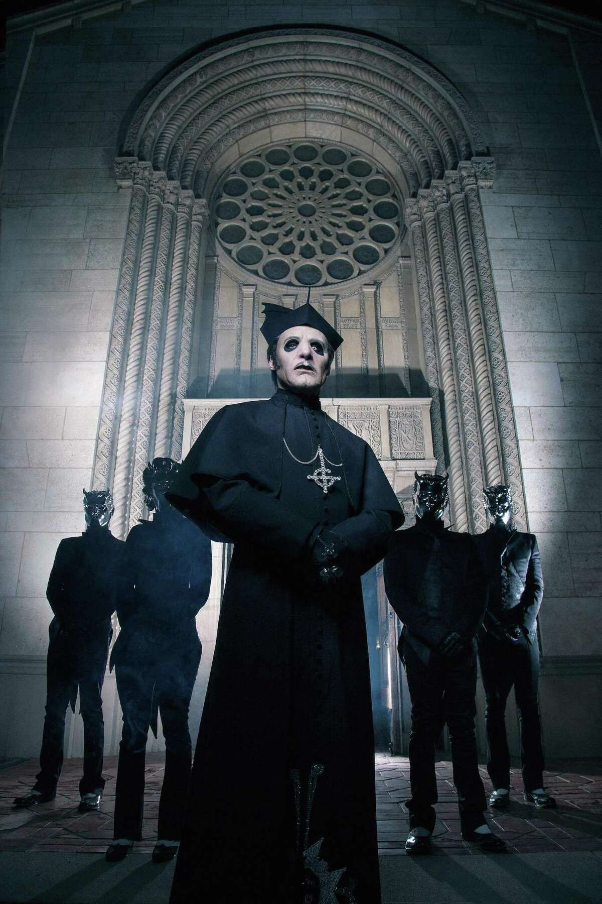 The hard rock band Ghost is debuting it's new leader, Cardinal Copia, on a tour that swings into Houston Tuesday, May 8.