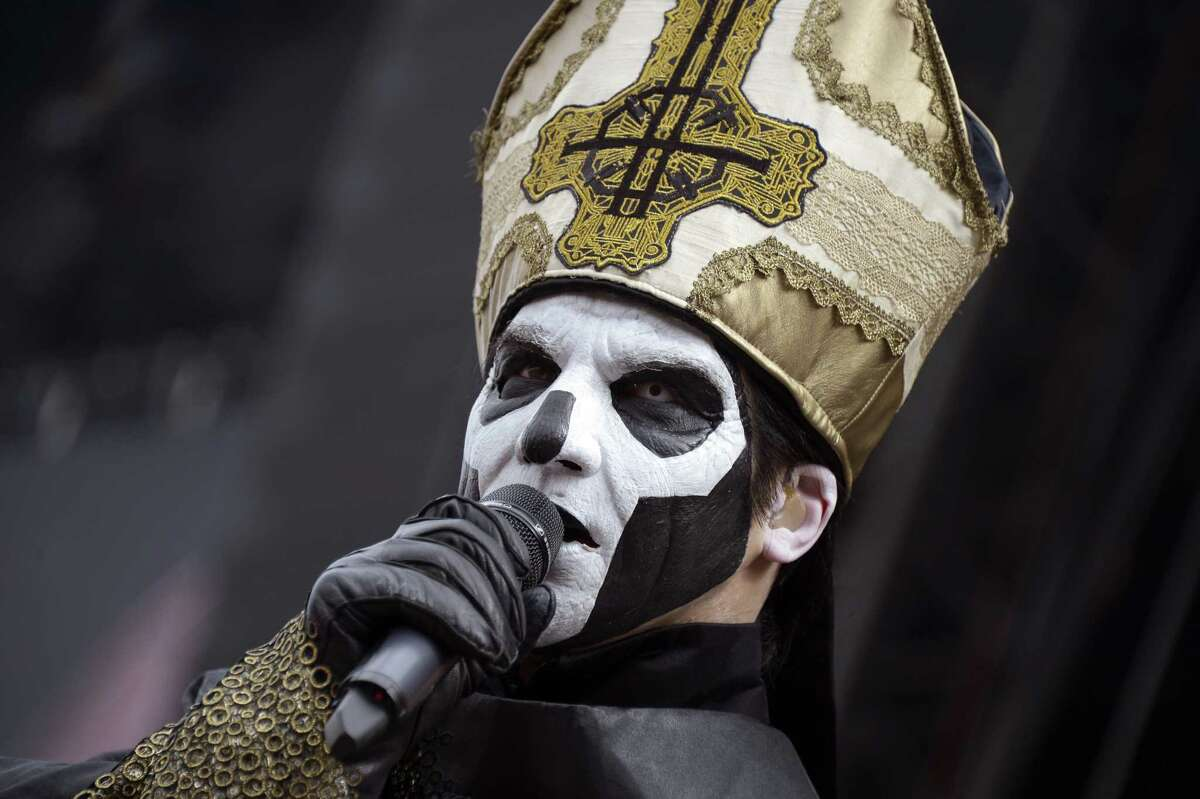 Papa Emeritus III of Swedish band Ghost BC performs during the Rock-en-Seine music festival in Saint-Cloud near Paris on August 28, 2015. Papa has since been