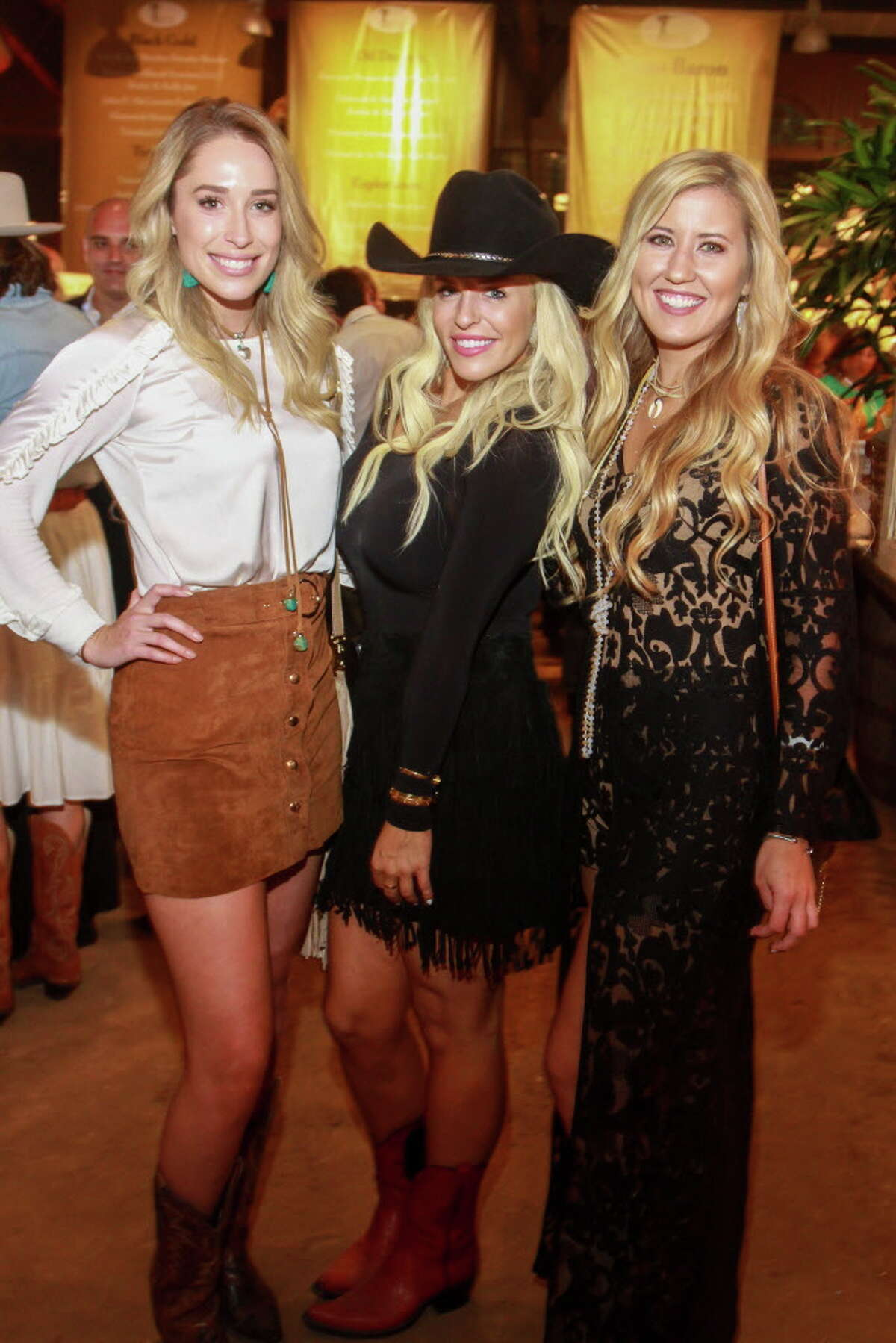 Megan LaVallie, from left, Caroline Looke and Madison Highland at the Cattle Baron's Ball.