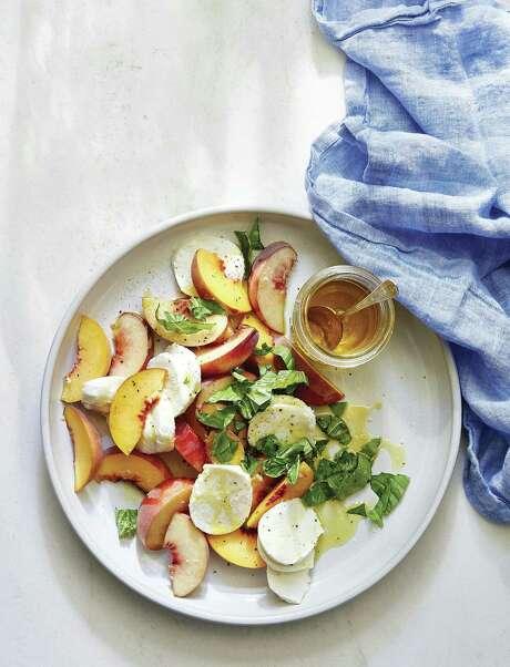 "Peach Caprese salad from ""Magnolia Table"" by Joanna Gaines. Photo: William Morrow / William Morrow"