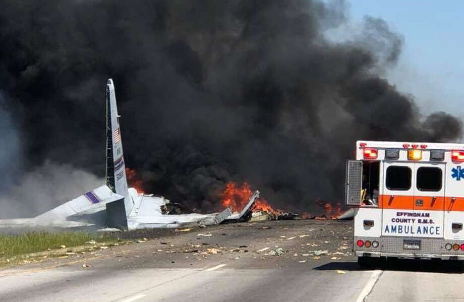 A C-130 plane from the Air National Guard 165th Airlift Wing crashed in Savannah, Georgia on Tuesday, May 2, 2018 (Savannah Professional Firefighters Association / IAFF Local 574) Photo: IAFF Local 574