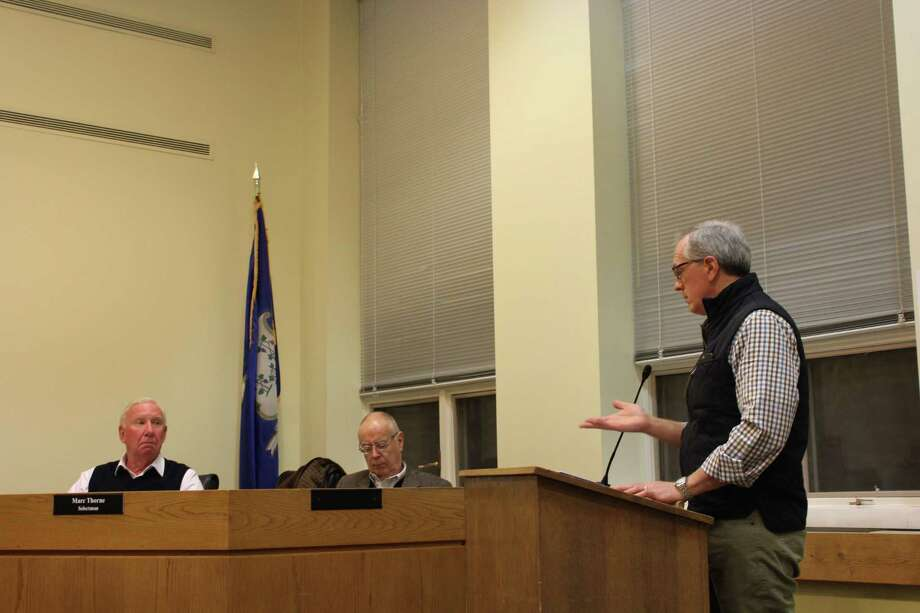 Residents voice their concerns over the proposed uses for the Ox Ridge property acquired last year for $6.2 million at the Darien Town Hall on Jan. 29. Photo: Humberto J. Rocha / Hearst Connecticut Media / Darien News