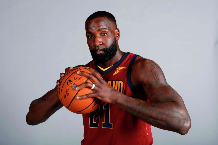 FILE - In this Sept. 25, 2017, file photo, Cleveland Cavaliers' Kendrick Perkins poses for a portrait during the NBA basketball team media day in Independence, Ohio. Veteran forward Kendrick Perkins is back with the Cavaliers. Cleveland signed Perkins on Wednesday, April 11, 2018, the final day of the regular season, and will have him on its playoff roster as the Cavs try to make the NBA Finals for the fourth straight year.(AP Photo/Ron Schwane, File) Photo: Ron Schwane, Associated Press / AP 2017