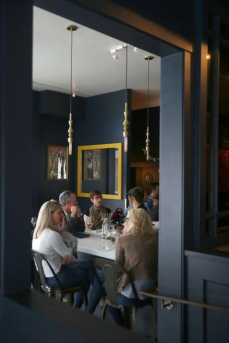 View of the bar looking through the dining room at AltoVino. Photo: Photos By Liz Hafalia / The Chronicle