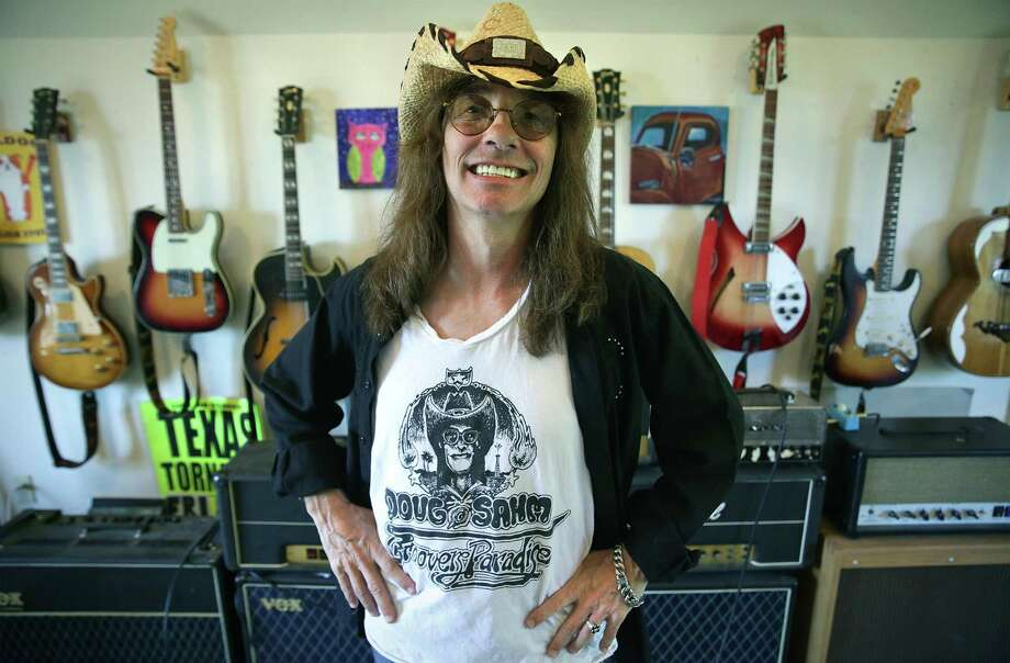 Note the resemblance? Shawn Sahm has devoted much of his life to the legacy of his father, Texas music icon Doug Sahm. Now he's started his own band, Shawn Sahm & Friends, that will include Charlie Sexton and Joe King Carrasco. Photo: Bob Owen /San Antonio Express-News / ©2018 San Antonio Express-News