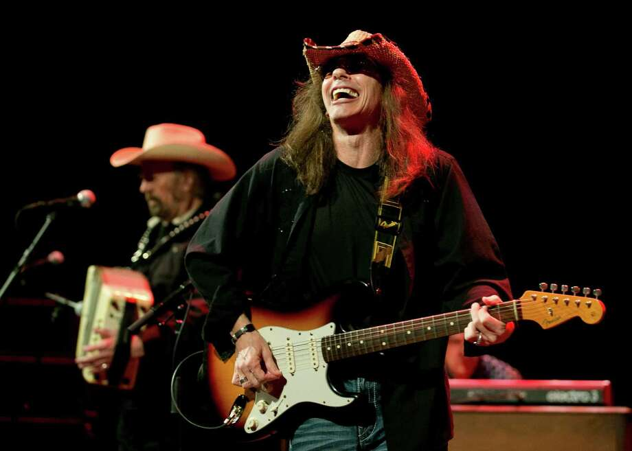 Augie Meyers, left, and Shawn Sahm of the Texas Tornados perform at a Doug Sahm tribute at the Paramount Theatre at SXSW in 2015. Photo: Jay Janner /Austin American-Statesman / Austin American-Statesman