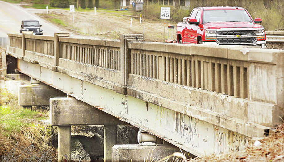 Work to replace the Illinois Route 143 bridge over Indian Creek will begin Monday. The road is expected to be closed to traffic through mid-November. Photo:       John Badman | The Telegraph