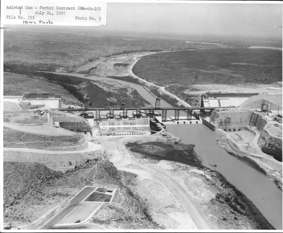 Amistad Dam under construction in 1967. Was there treasure somewhere along the Devil's River? Photo: Jack Baughman, Houston Chronicle File