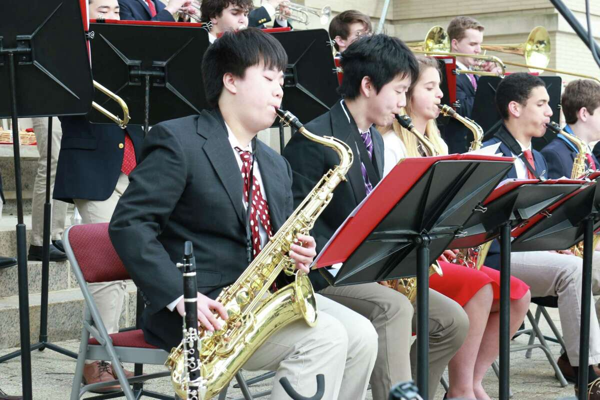 Greenwich High School musicians perform at an