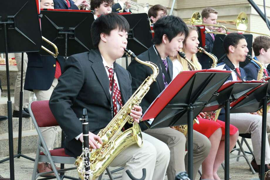 "Greenwich High School musicians perform at an ""Arts to the Avenue"" performance. Photo: / Contributed"