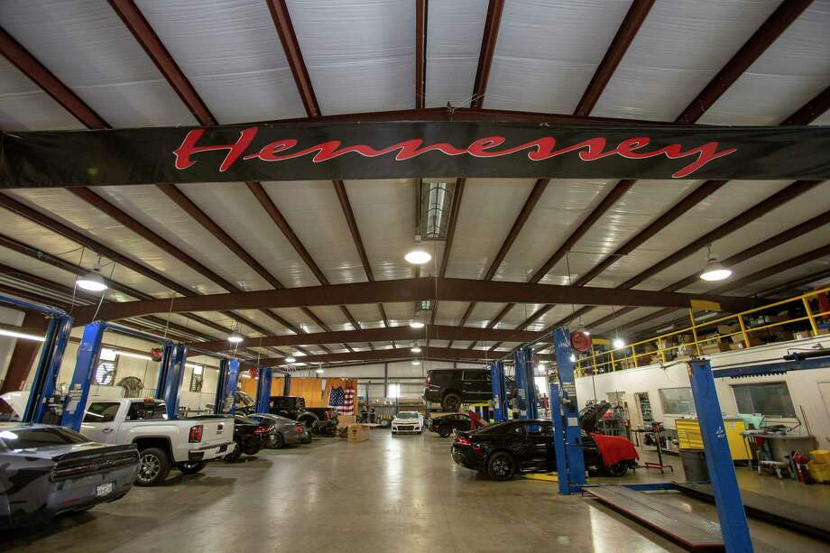A general view of the mechanic floor at Hennessey Performance on Wednesday, May 2, 2018 in Sealy, TX. Photo: John Glaser, For The Chronicle / Houston Chronicle