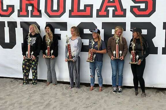 San Francisco surfer Emma Stone, 16, won the Scholastic Surf Series state championship at Oceanside Harbor in San Diego on April 23.
