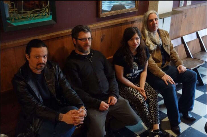 Hearts of Animals is a Houston band fronted by Mlee Mains (second from right)   photo by James Medford