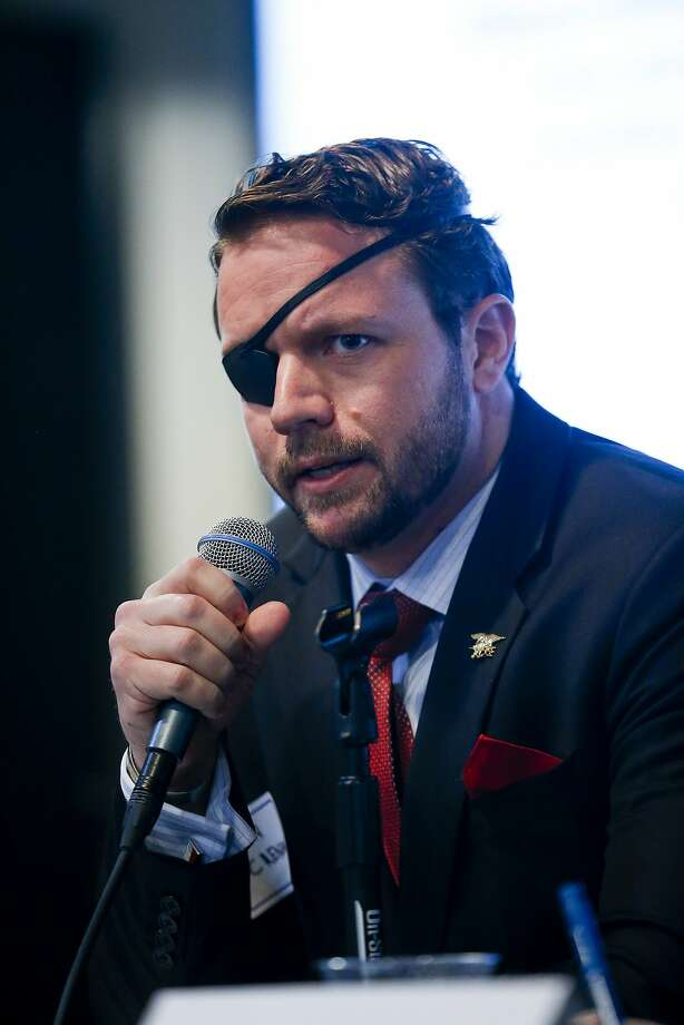 Dan Crenshaw joins a record number of Iraq and Afghanistan combat veterans elected to Congress. Photo: Michael Ciaglo, Houston Chronicle