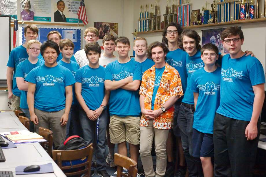 The Friendswood High School CyberPatriot cyber security competition team placed second, fourth and sixth in a recent state meet and qualified to participate in a national meet later this year. Photo: Kirk Sides/Houston Chronicle