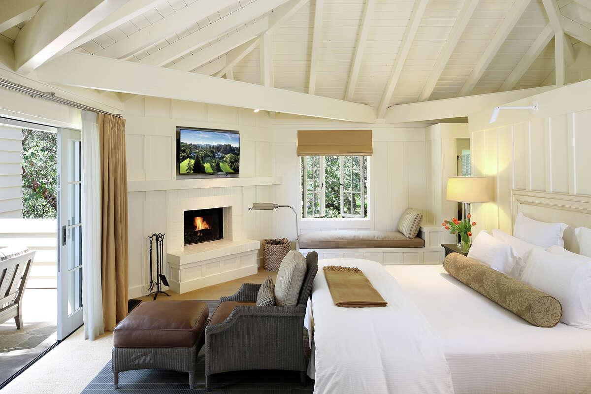 An estate room at Meadowood Napa Valley.
