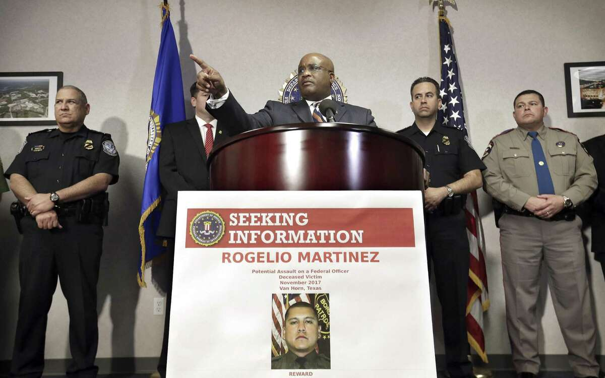 FBI Special Agent-in-Charge of the El Paso field office Emmerson Buie Jr. speaks during a press conference at the FBI field office, Tuesday, Nov. 21, 2017, in El Paso, Texas, about the death of a border patrol agent and the severe injuries of a second agent. FBI officials were originally investigating the incident as a potential physical assault on federal officers, but said there are several scenarios that might have led to the agents injuries.