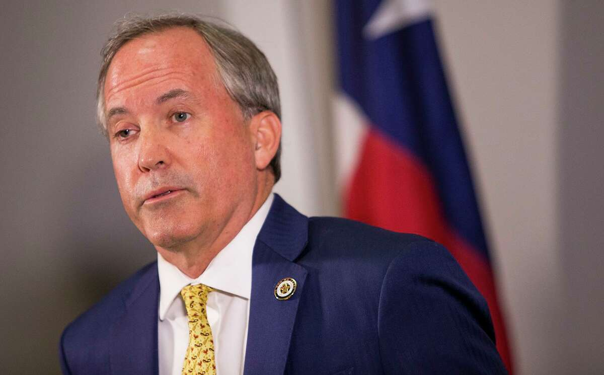 Texas Attorney General Ken Paxton speaks about a lawsuit he filed against the federal government to end DACA during a press conference in Austin, Texas, on Tuesday, May 1, 2018. Paxton is a coalition of states in the lawsuit. (Nick Wagner /Austin American-Statesman via AP)