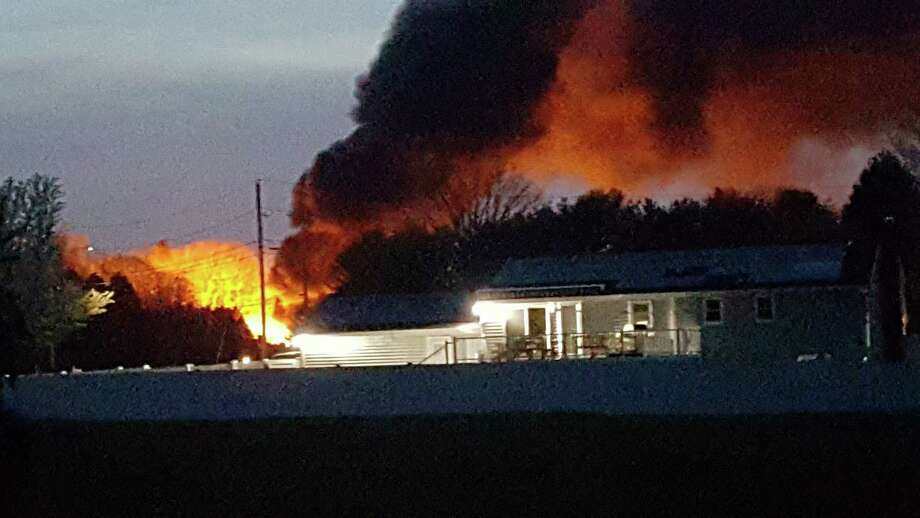 From the scene of a North Haven fire Photo: Contributed