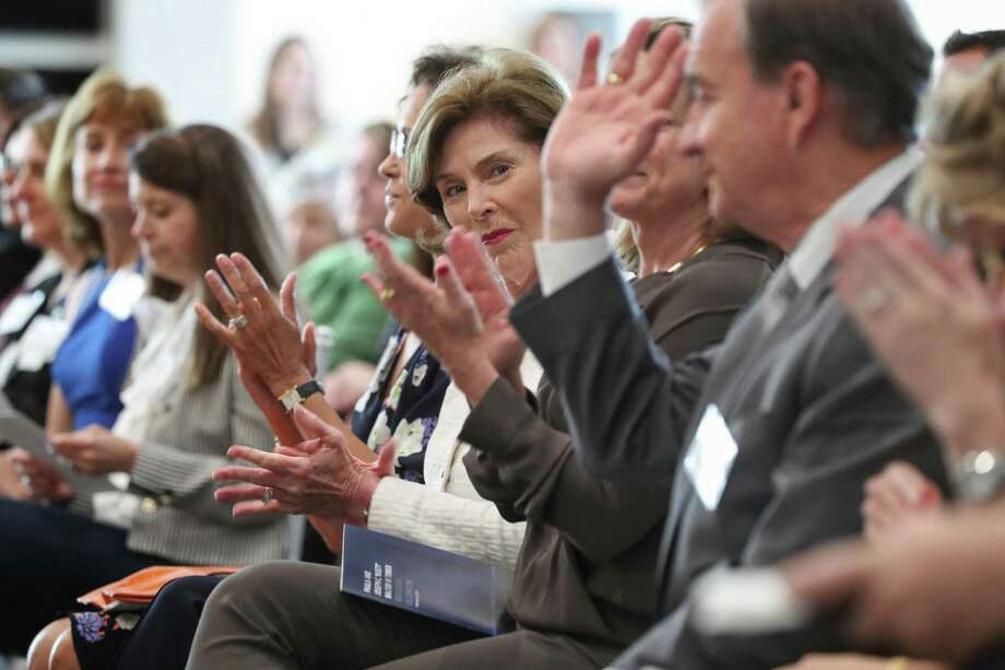 Former First Lady Laura Bush was on hand to announced the creation of the Houston Methodist Hospital Center for Health & Nature Wednesday, May 2, 2018, in Houston. The creation of a Center for Health & Nature, a first-of-its-kind attempt to investigate the therapeutic benefits of the great outdoors. ( Steve Gonzales / Houston Chronicle ) Photo: Steve Gonzales, Houston Chronicle / Houston Chronicle / © 2018 Houston Chronicle