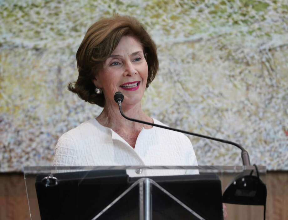 Former First Lady Laura Bush was on hand to announced the creation of the Houston Methodist Hospital Center for Health & Nature Wednesday, May 2, 2018, in Houston. Photo: Steve Gonzales,  Houston Chronicle / Houston Chronicle / © 2018 Houston Chronicle